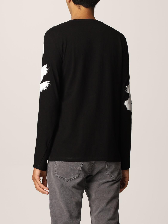 T-shirt Alexander Mcqueen: T-shirt Alexander McQueen in cotone con big logo nero 3