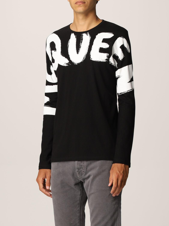 T-shirt Alexander Mcqueen: T-shirt Alexander McQueen in cotone con big logo nero 4