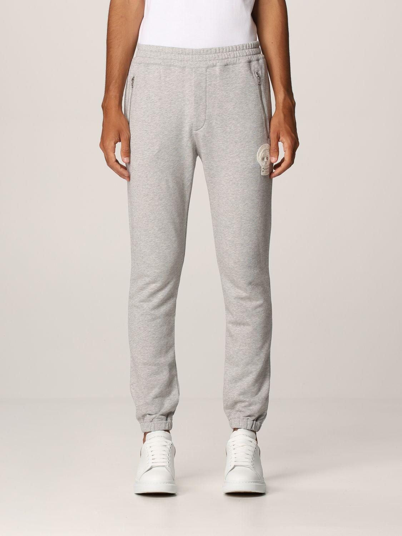 Pantalone Alexander Mcqueen: Pantalone jogging Alexander McQueen grigio 1