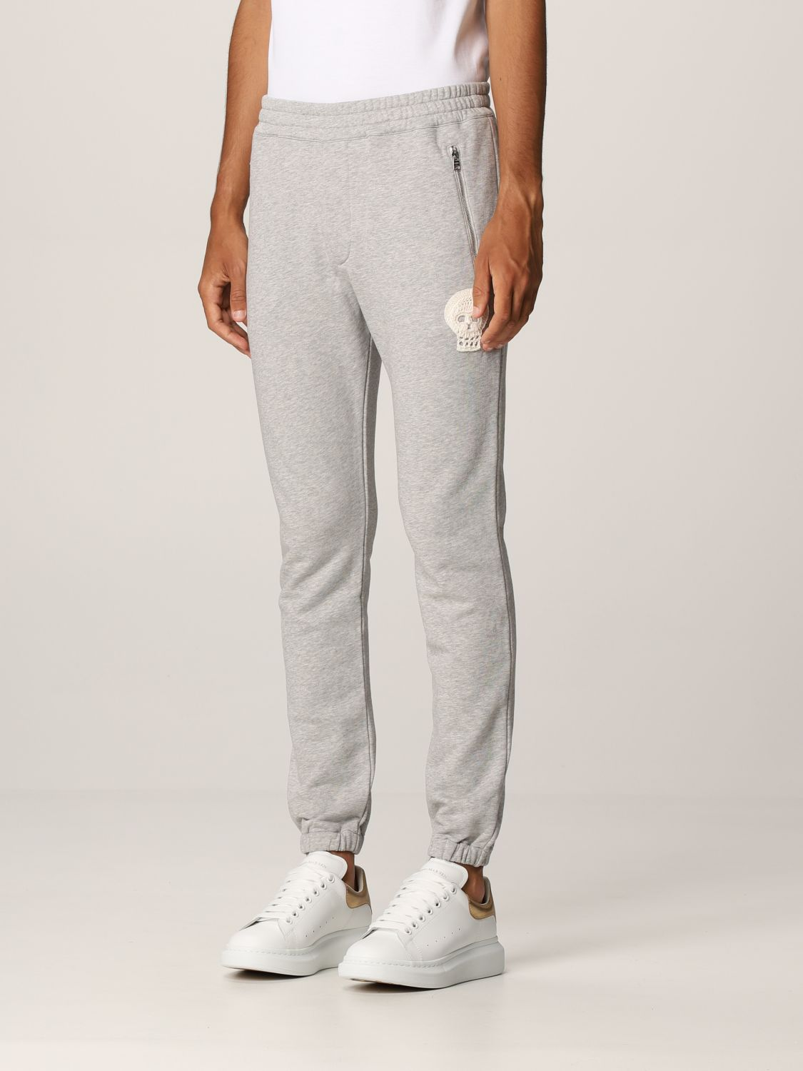 Pantalone Alexander Mcqueen: Pantalone jogging Alexander McQueen grigio 4