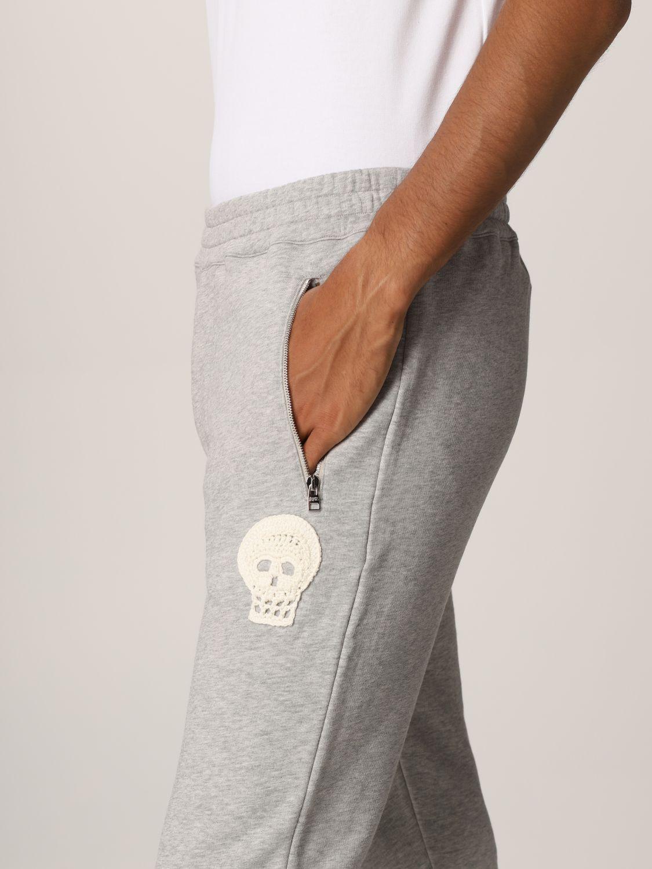 Pantalone Alexander Mcqueen: Pantalone jogging Alexander McQueen grigio 5