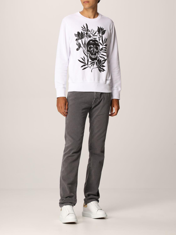 Sweatshirt Alexander Mcqueen: Alexander McQueen cotton sweatshirt with skull white 2