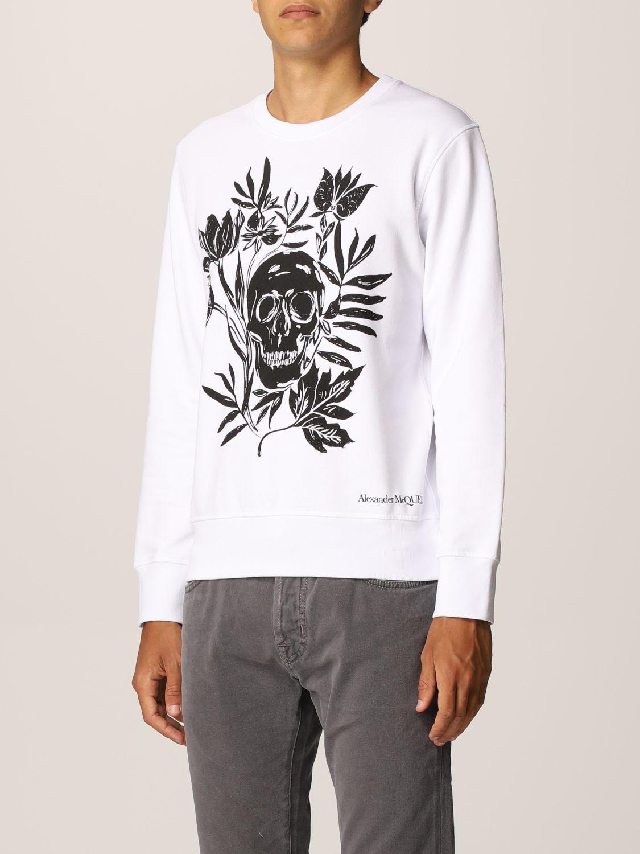 Sweatshirt Alexander Mcqueen: Alexander McQueen cotton sweatshirt with skull white 4