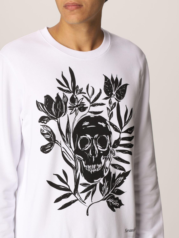Sweatshirt Alexander Mcqueen: Alexander McQueen cotton sweatshirt with skull white 5