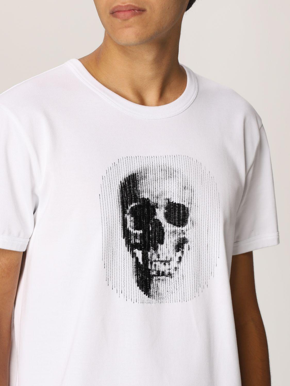 T-shirt Alexander Mcqueen: T-shirt Alexander McQueen con stampa teschio bianco 5