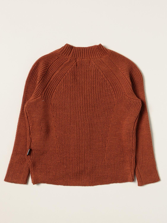 Sweater Molo: Molo cardigan in cotton blend brown 2