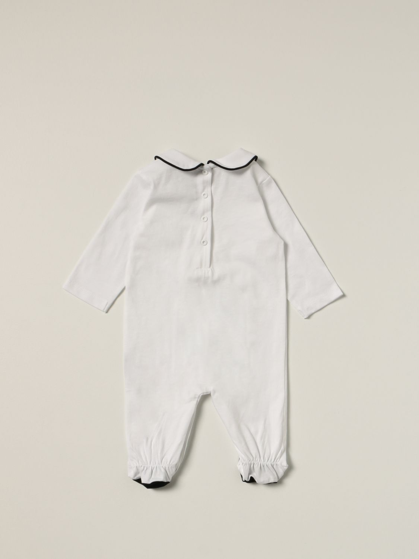 Pack Balmain: Balmain cotton onesie + bib + hat set white 2