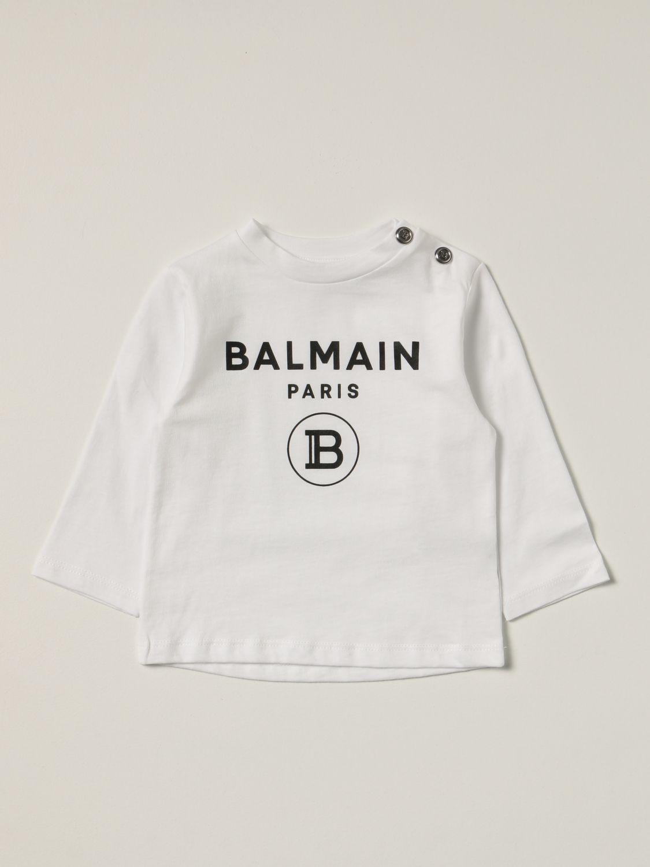 T-shirt Balmain: Balmain cotton t-shirt with logo white 1
