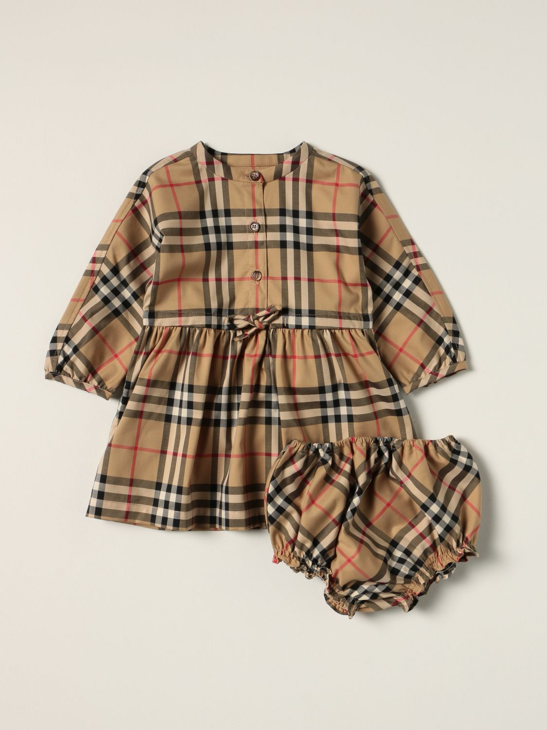 Jumpsuit Burberry: Burberry dress in stretch cotton with vintage check pattern beige 1