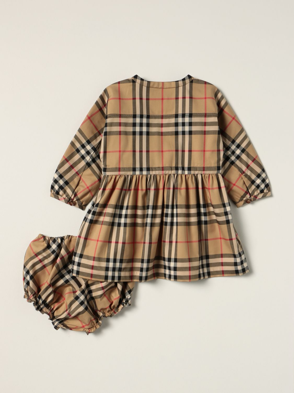 Jumpsuit Burberry: Burberry dress in stretch cotton with vintage check pattern beige 2