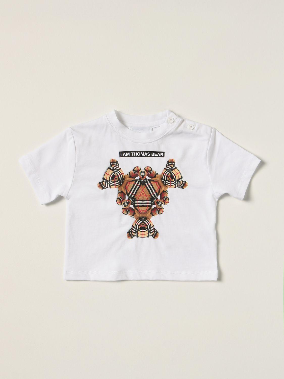 T-shirt Burberry: Burberry cotton T-shirt with Thomas bear white 1
