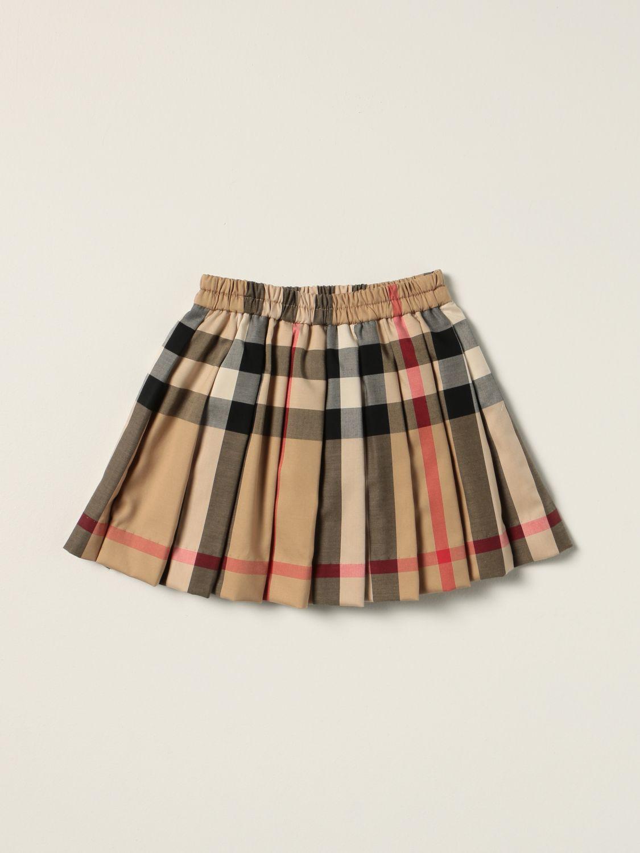 Skirt Burberry: Burberry pleated skirt in tartan stretch cotton beige 2