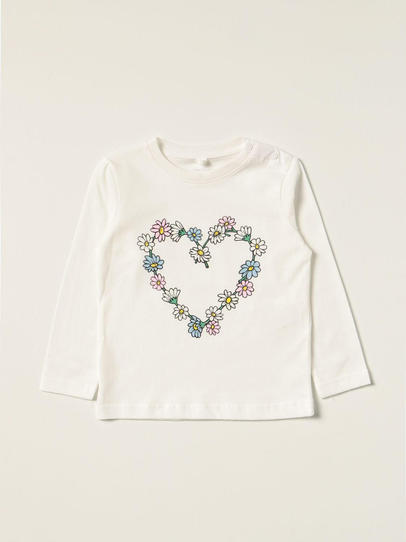 T-shirt Stella Mccartney: T-shirt Stella McCartney con cuore floreale bianco 1