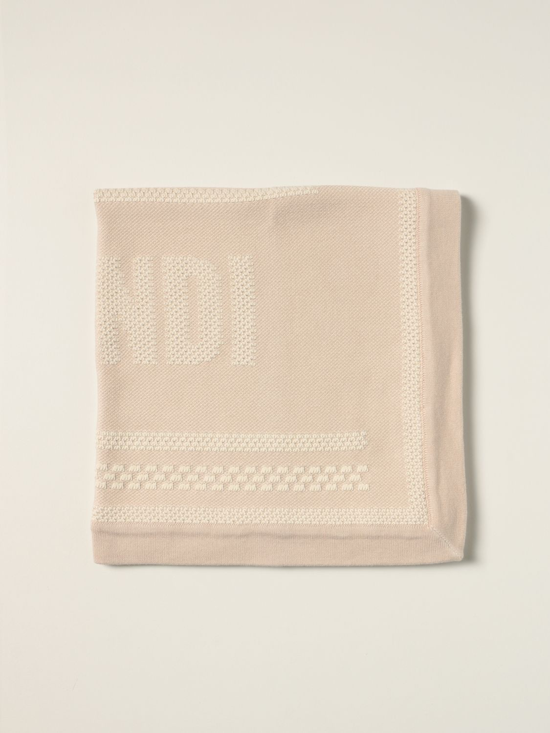 Sheets Fendi: My First Fendi blanket in cotton and cashmere beige 1