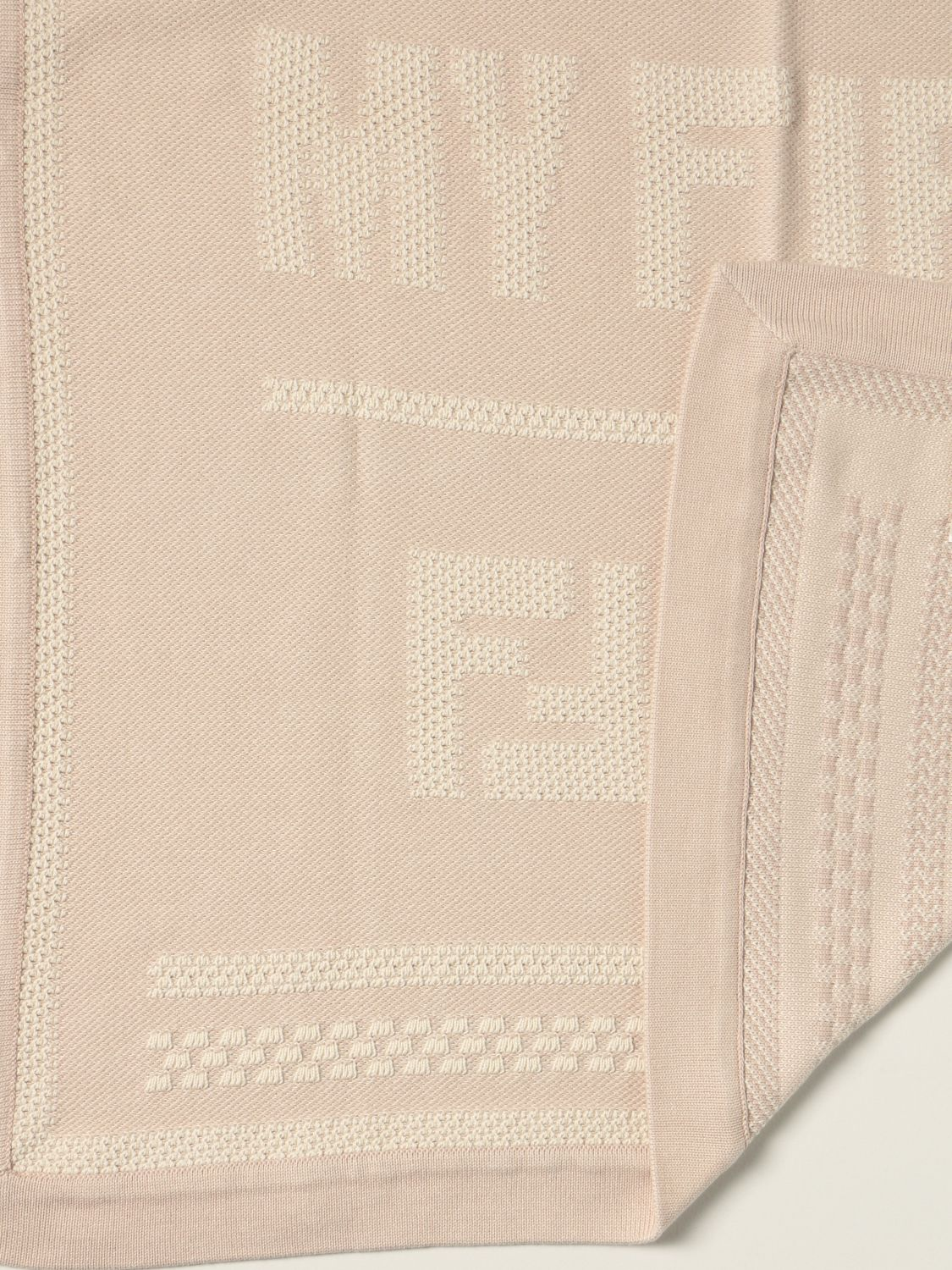 Sheets Fendi: My First Fendi blanket in cotton and cashmere beige 2