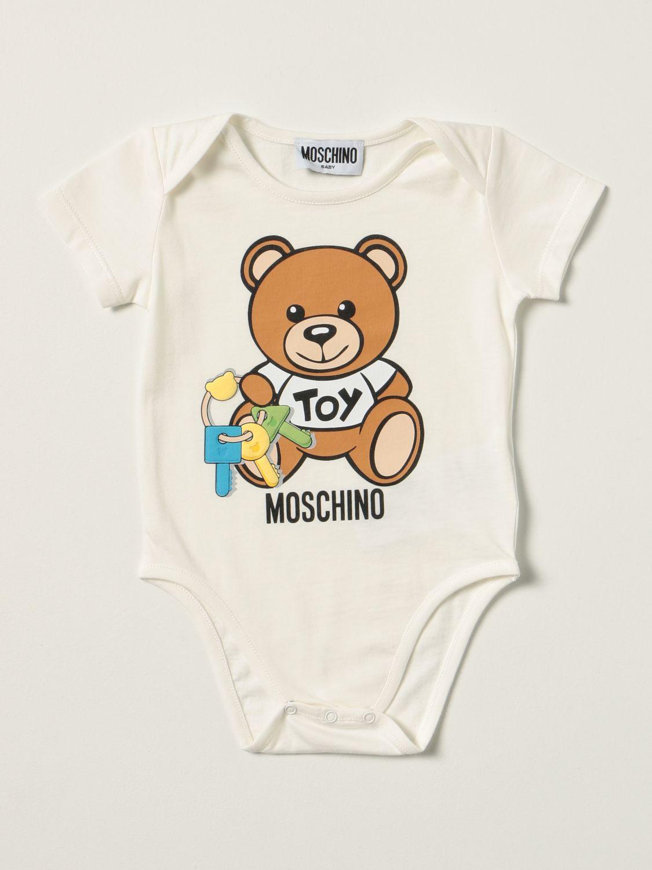 Body Moschino Baby: Body Moschino Baby con teddy bianco 1