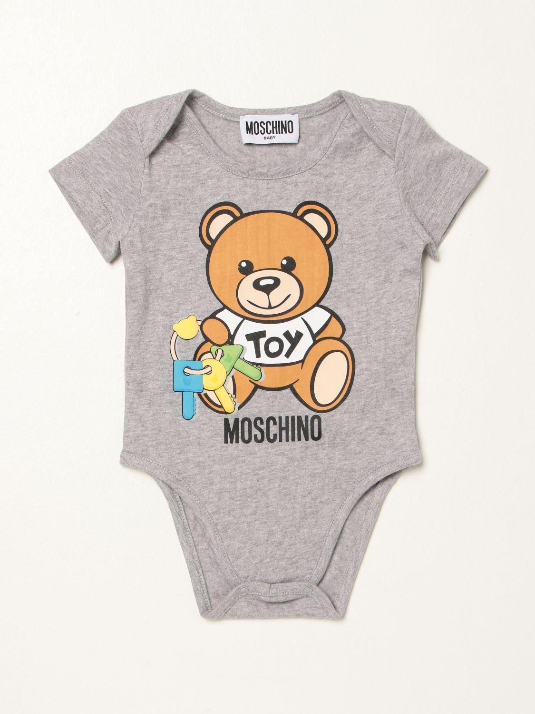 Body Moschino Baby: Body Moschino Baby con teddy grigio 1