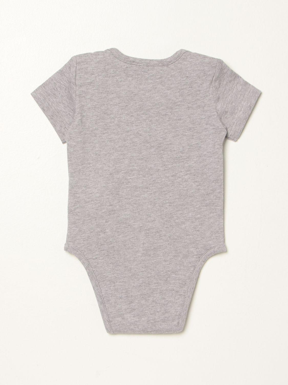 Body Moschino Baby: Body Moschino Baby con teddy grigio 2