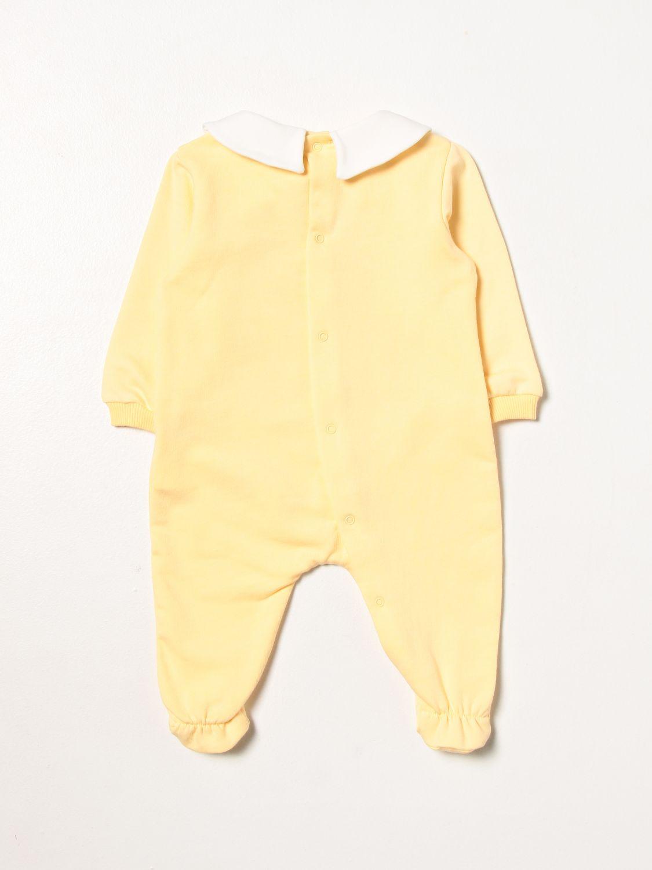 Pack Moschino Baby: Romper set with foot + Moschino Baby hat yellow 2