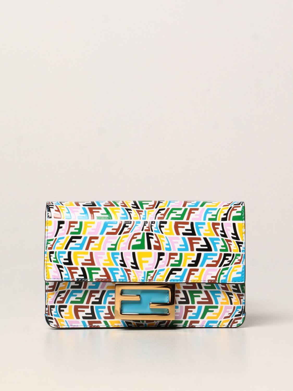 Borse a tracolla Fendi: Borsa Baguette Fendi in pelle con logo FF Vertigo multicolor fantasia 1