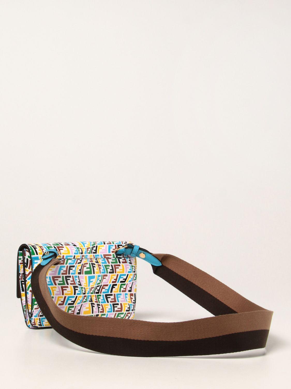 Borse a tracolla Fendi: Borsa Baguette Fendi in pelle con logo FF Vertigo multicolor fantasia 2