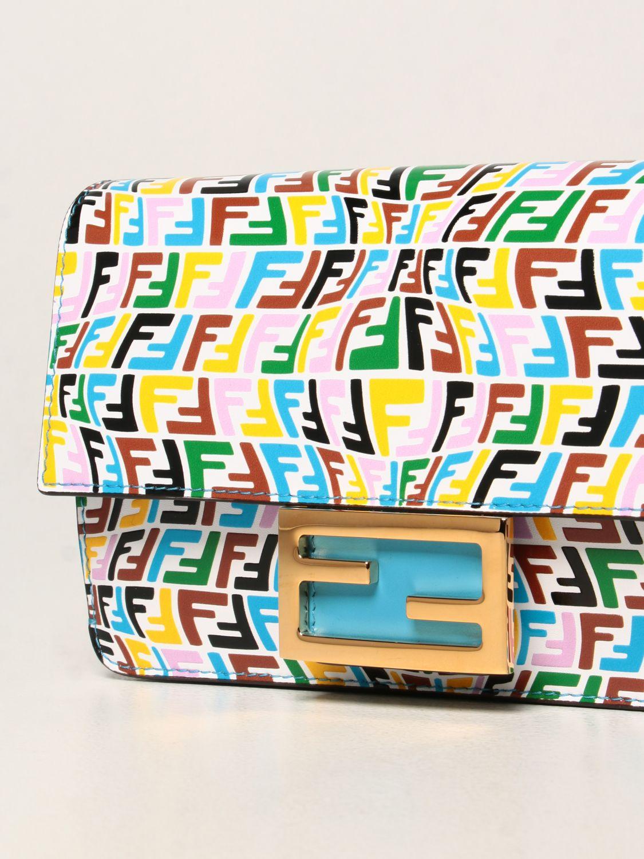 Borse a tracolla Fendi: Borsa Baguette Fendi in pelle con logo FF Vertigo multicolor fantasia 3