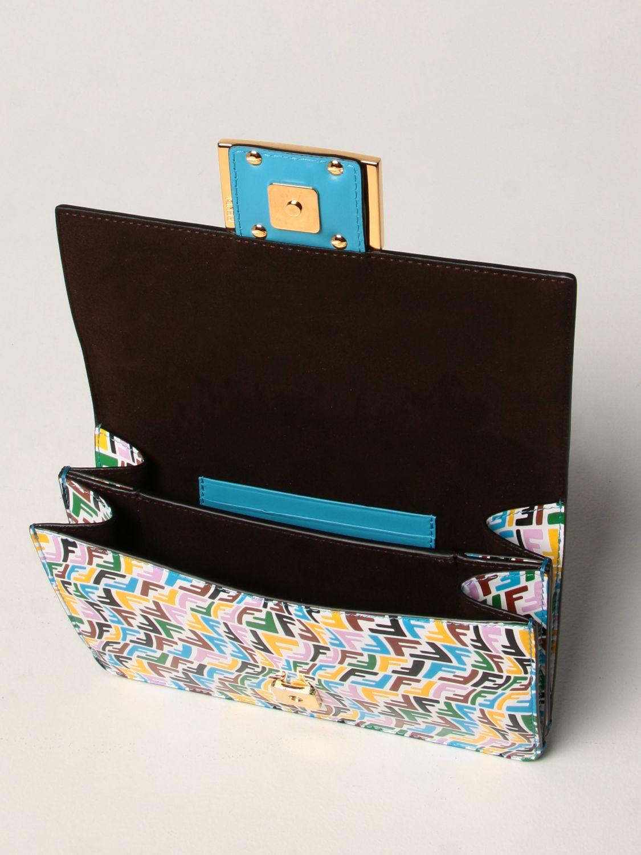 Borse a tracolla Fendi: Borsa Baguette Fendi in pelle con logo FF Vertigo multicolor fantasia 4