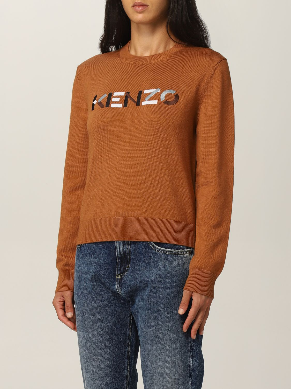 Maglia Kenzo: Maglia Kenzo in lana con logo arancione 3