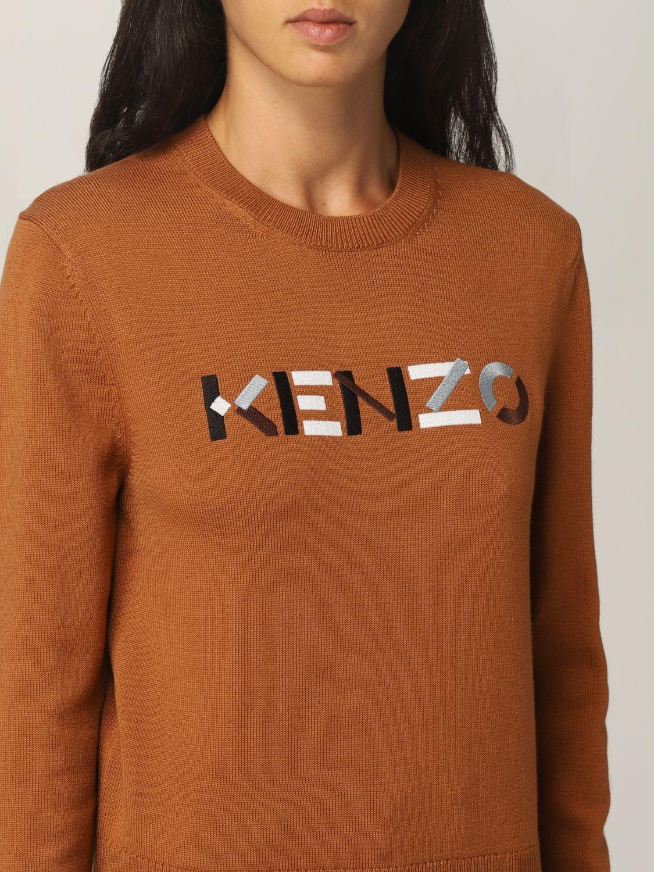 Maglia Kenzo: Maglia Kenzo in lana con logo arancione 4
