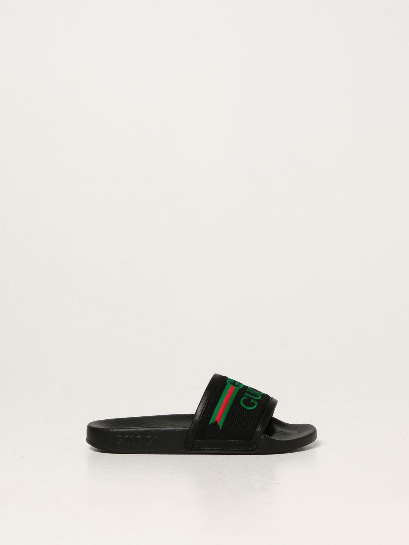 Scarpe Gucci: Sandalo Gucci in nappa nero 1