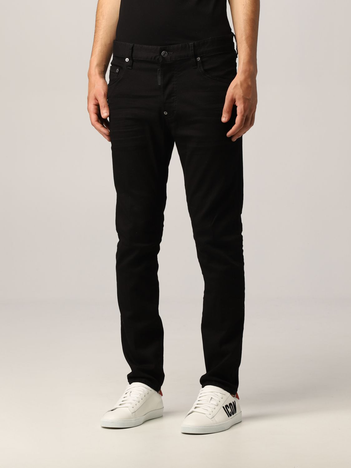 Jeans Dsquared2: Jeans Dsquared2 skinny fit nero 4