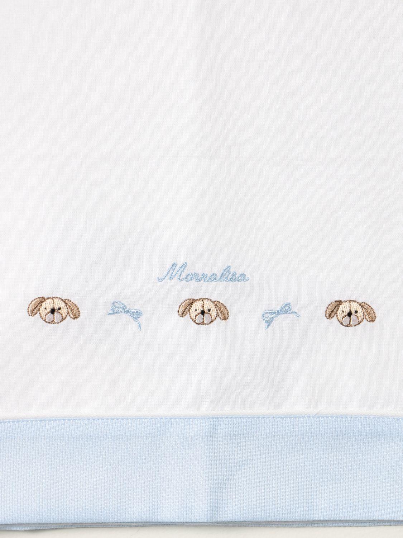 Sheets Monnalisa: Monnalisa sheets with embroidery yellow cream 3