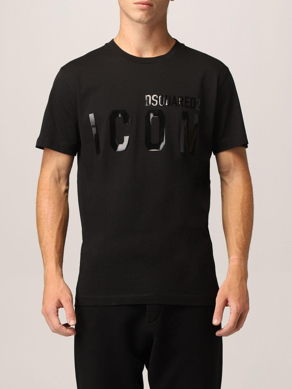 T-shirt Dsquared2: T-shirt Dsquared2 con logo Icon nero 1