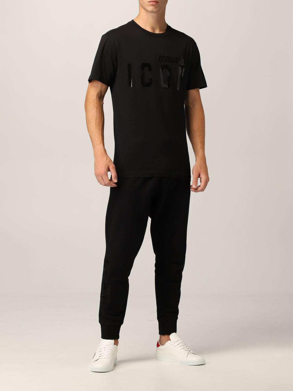 T-shirt Dsquared2: T-shirt Dsquared2 con logo Icon nero 2