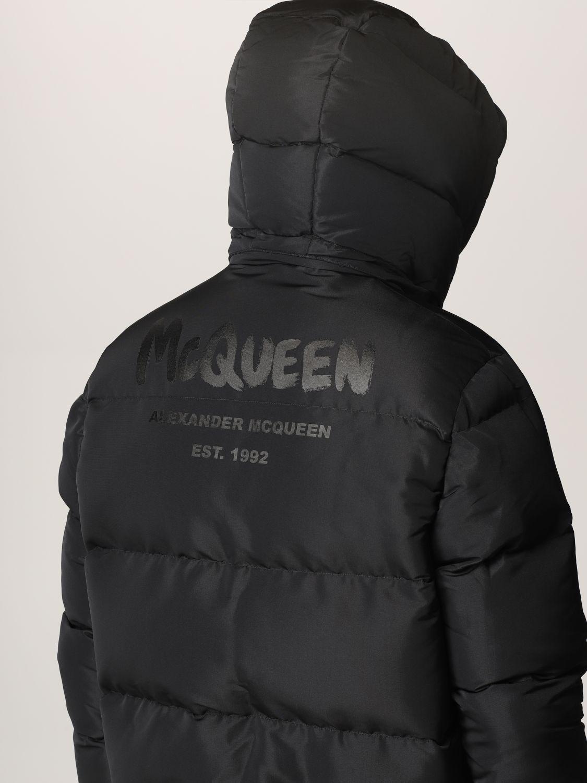 Giacca Alexander Mcqueen: Piumino Alexander McQueen con logo nero 5