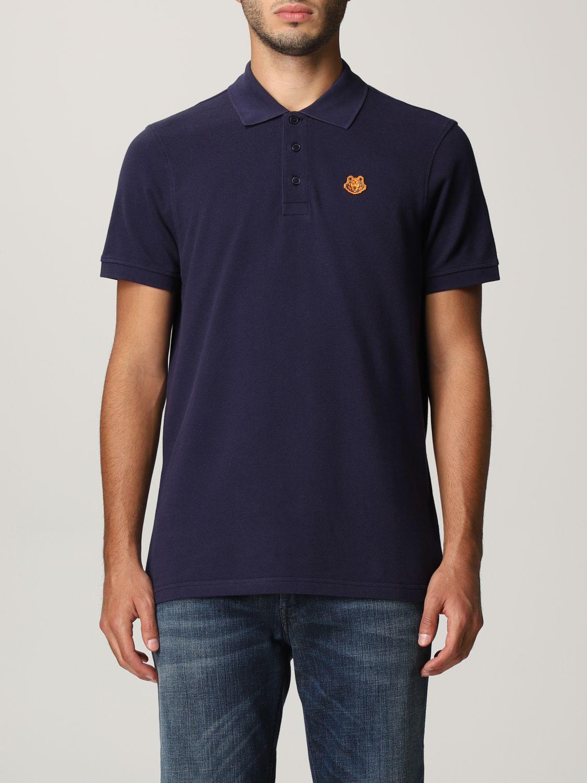 Polo shirt Kenzo: Kenzo polo shirt with tiger blue 1