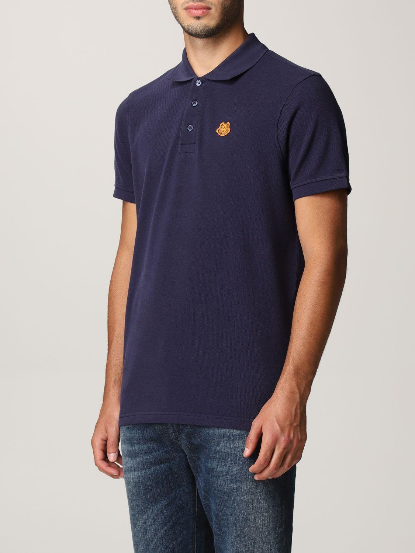 Polo shirt Kenzo: Kenzo polo shirt with tiger blue 3