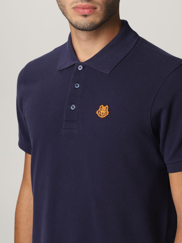 Polo shirt Kenzo: Kenzo polo shirt with tiger blue 4