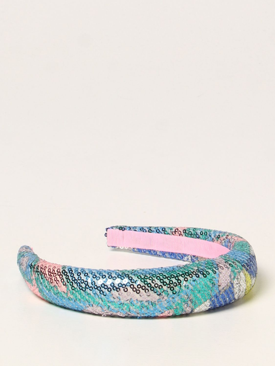 Hairband Emilio Pucci: Emilio Pucci patterned headband with sequins yellow 1