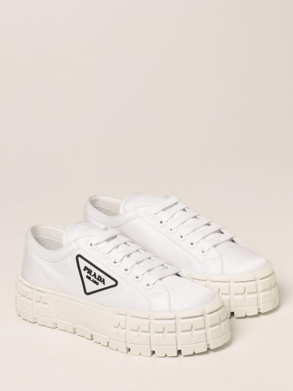 Sneakers Prada: Sneakers Wheel Prada in gabardine Re-Nylon bianco 2
