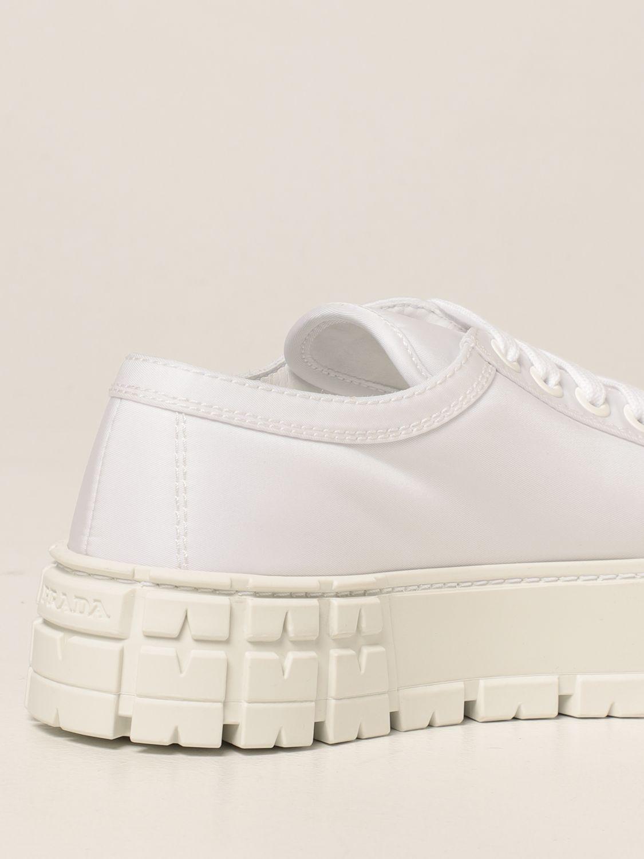 Sneakers Prada: Sneakers Wheel Prada in gabardine Re-Nylon bianco 3