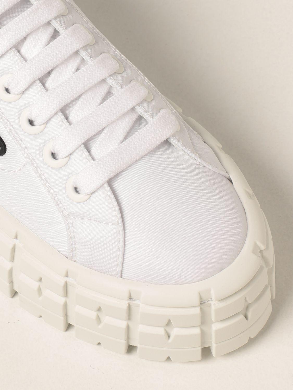 Sneakers Prada: Sneakers Wheel Prada in gabardine Re-Nylon bianco 4