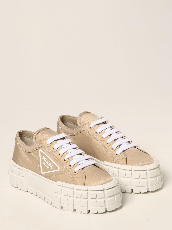 Sneakers Prada: Sneakers Wheel Prada in gabardine Re-Nylon sabbia 2
