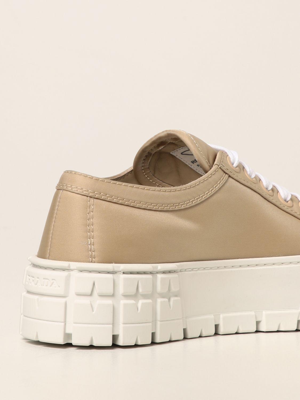 Sneakers Prada: Sneakers Wheel Prada in gabardine Re-Nylon sabbia 3