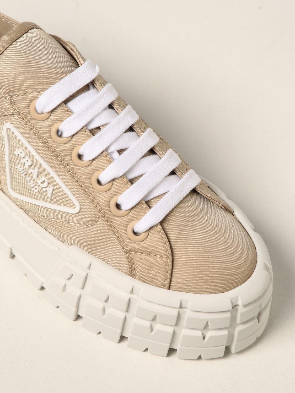 Sneakers Prada: Sneakers Wheel Prada in gabardine Re-Nylon sabbia 4