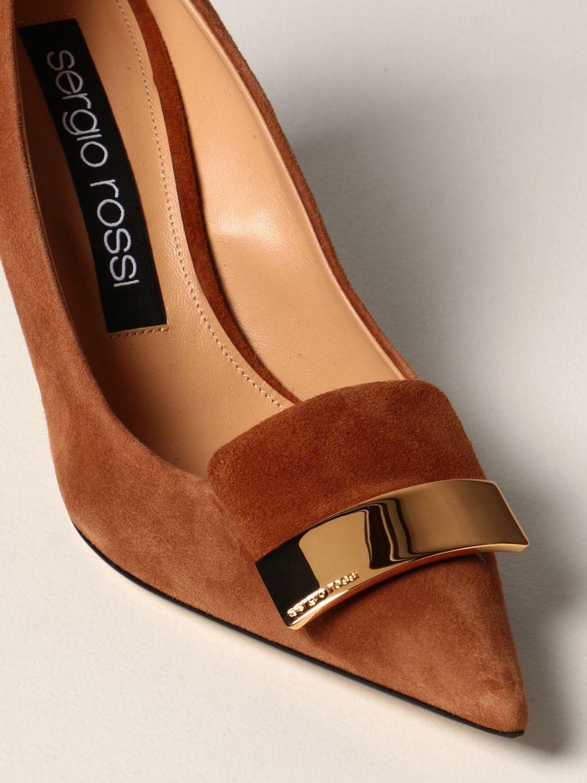 高跟单鞋 Sergio Rossi: 高跟单鞋 女士 Sergio Rossi 黄棕色 4