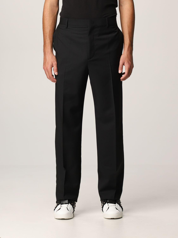 Pantalone Valentino: Pantalone Valentino in lana nero 1