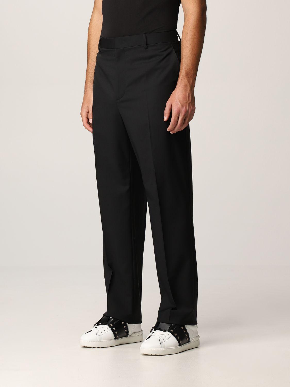 Pantalone Valentino: Pantalone Valentino in lana nero 4