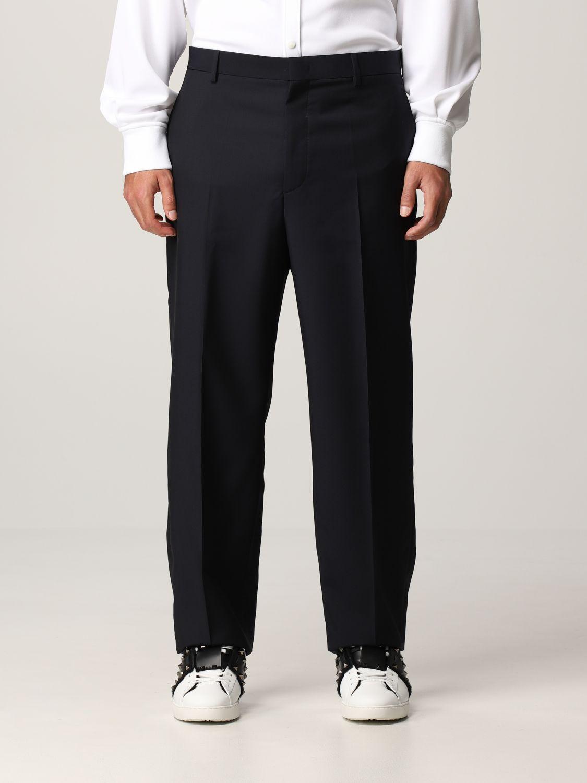 Pantalone Valentino: Pantalone Valentino in lana blue navy 1