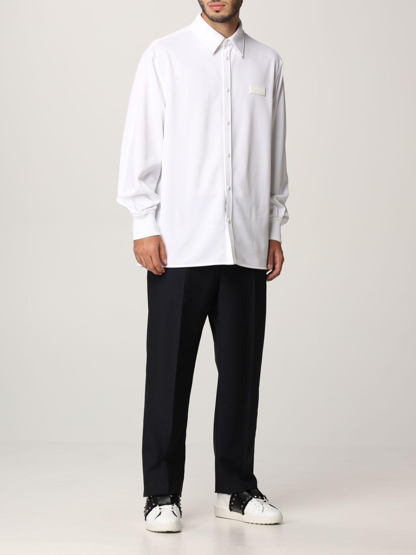 Pantalone Valentino: Pantalone Valentino in lana blue navy 2